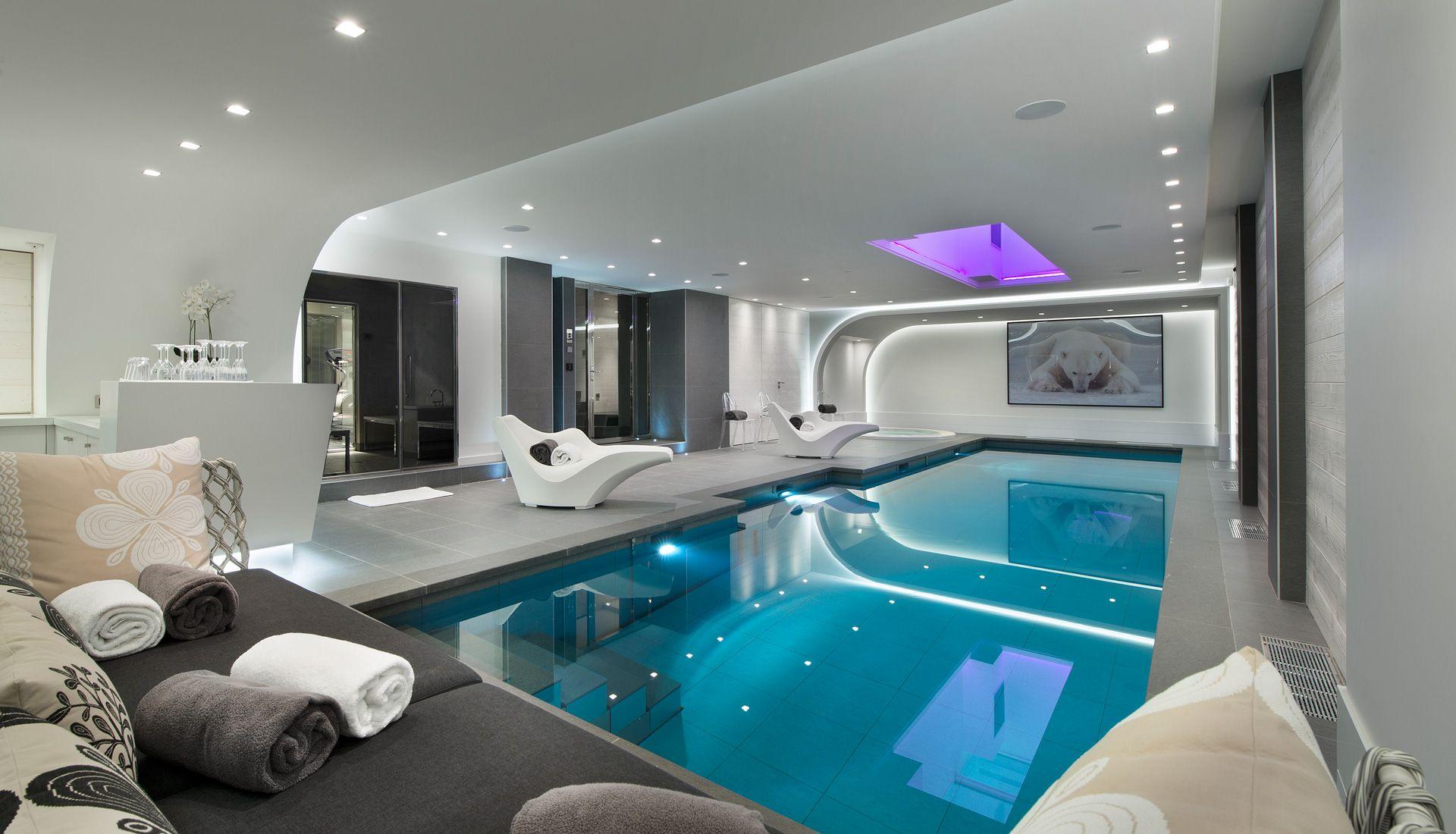chalet luxueux courchevel piscine intérieure