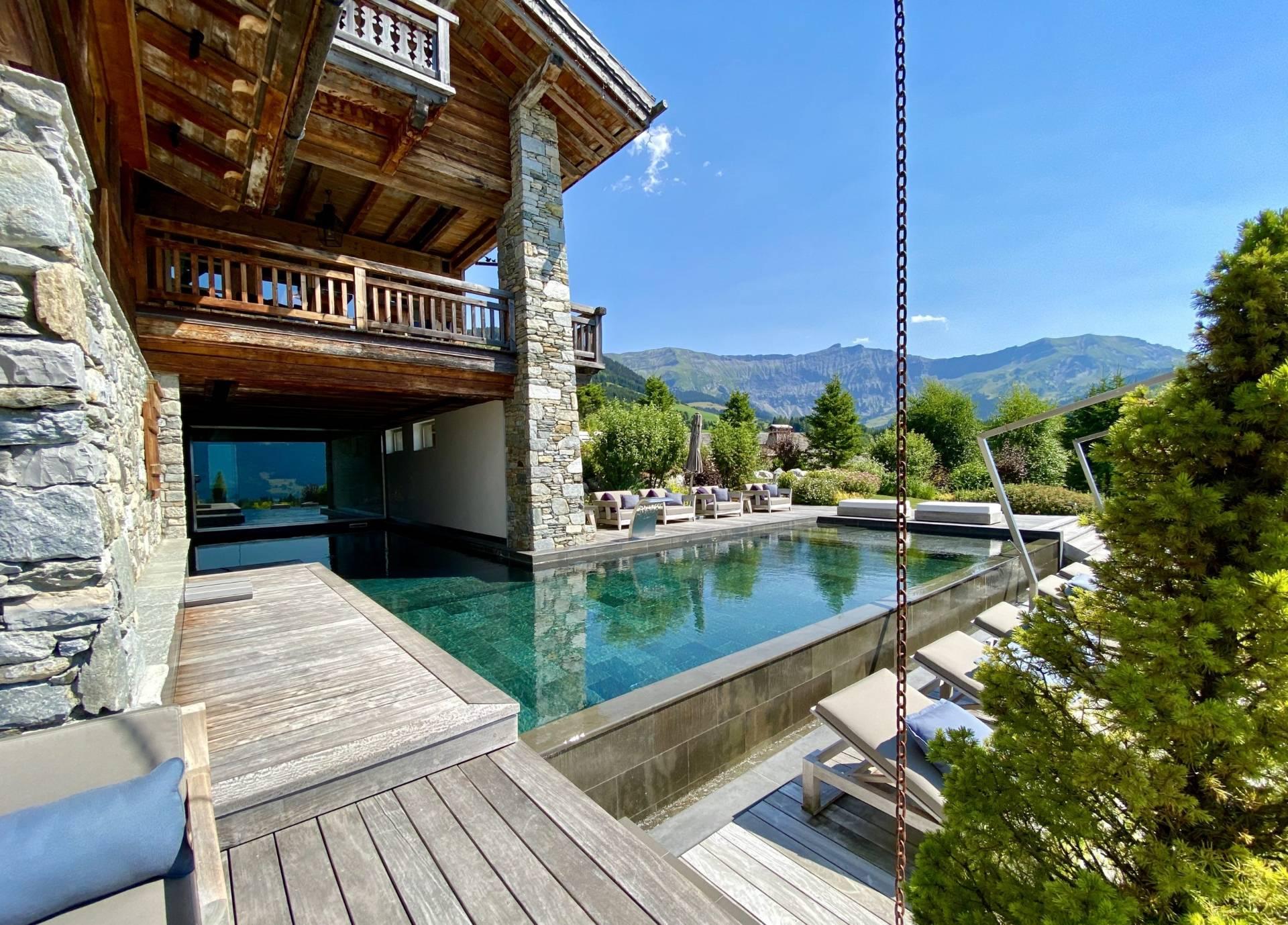 chalet luxueux Megève avec piscine
